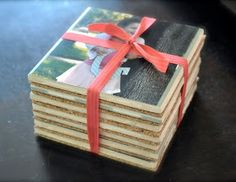 Mod Podge personalized gift coasters