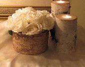"6 White Birch Logs for Fireplace - Home Decor- Wedding 15""- 18""  Long. $34.95, via Etsy."