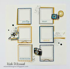 Layout using Close To My Heart April Stamp of the Month - Life In Pictures. by Vicki Wizniuk