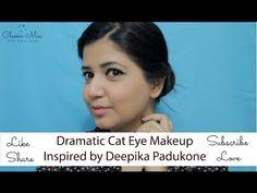 Dramatic Cat Eye Makeup | Inspired by Deepika Padukone | Classic Mia - YouTube