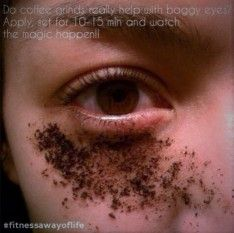 How to Get Rid of Puffy – Baggy Eyes with Coffee Grounds