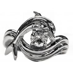 dolphin engagement ring independence day style setting 38ct - Dolphin Wedding Rings