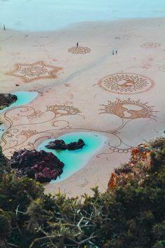 tatuaggi sulla spiaggia