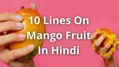 About Mango In Hindi | 10 Lines On Mango Fruit In Hindi Mango Fruit