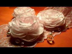 Fabric flowers: big corsage rose/tutorial/Цветы из ткани: большая корсажная роза/МК - YouTube
