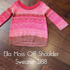 SO cozy! Ella moss off shoulder sweater