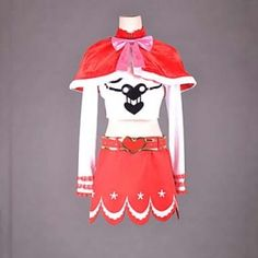 One Piece Perona Cosplay Costume(white and red dress)