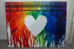 Melting Crayons - SO cool! My 1st time to see this! I know I'm a little late! JUST SAD!