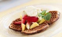 grove vafler Cottage Cheese, Breakfast, Food, Alternative, Morning Coffee, Meals, Yemek, Eten
