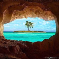 Sea cave, sea shore, relax, vacations, sand, destinations, tropical, tropics, warm, ocean, sea, seas, crystal clear water, turquoise blue water, paradise, white sand, palm trees, salt water, salt life,  #beaches #islands #vacations