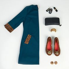 Tracy Negoshian Shift + Leopard Ballet Flats with Interchangeable Snaps by Lindsay Phillips Switchflops | Fall 2015 Style