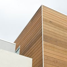 weathertex - Brighton House. Selflok Ecogroove 150 Natural Woodsman (3) Brighton Houses, Architectural Materials, Cladding, Architecture Details, Stairs, House Design, Junction Road, Gallery, Wood