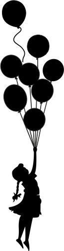 Luftballons Wandtattoo, 19,95 €