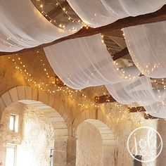 Location guirlandes lumineuses LED 10 m plafond decoration mariage Rental LED string lights 10 m cei Led Garland, Light Garland, Wedding Ceiling, Nature Decor, Diy Nature, Ceiling Decor, Led String Lights, Fairy Lights, Wedding Decorations