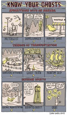 INCIDENTAL COMICS: Know Your Ghosts
