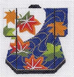 leaf kimono hand painted canvas needlepoint from lee needle arts