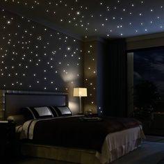 Autcollants étoiles phosphorescentes - un ciel étoilé dans votre chambre