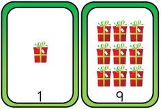 Number bonds to 10 - handy display cards with a Christmas theme of either stockings or presents.