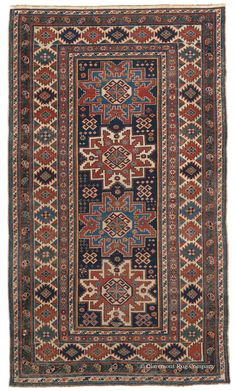 LESGHI, Northeast Caucasian 3ft 7in x 6ft 4in Circa 1900 http://gallery.claremontrug.com/gallery/?p=1&g=4&gg=Claremont%202%20-%20Fabulous%20Old%20Rugs!
