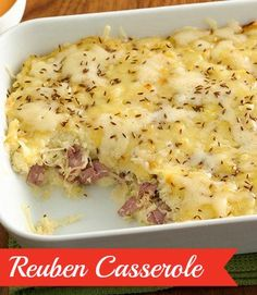 This highly rated savory casserole is a St. Paddy's dinner must-make. Corned beef is topped with garlicky mashed potatoes and sauerkraut, and the whole thing has a nice tang thanks to yellow mustard. Betty members recommend making this in advance so the flavors have a chance to meld!
