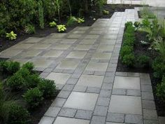 Paver Patio / Walkways / Driveways / Interlocking Pavers make a unique product to use in your Hardscape Project. Check out our Website or come into any of our 6 Store Locations. Landscaping Company, Front Yard Landscaping, Backyard Patio, Backyard Layout, Patio Swing, Stone Patio Designs, Paver Designs, Paver Walkway, Front Walkway