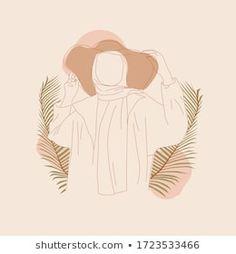 Cartoon Girl Images, Girl Cartoon, Cartoon Art, Ink Illustrations, Illustration Art, Fashion Illustrations, Hijab Drawing, Anime Friendship, Islamic Cartoon