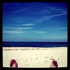 My feet. The baltic sea.