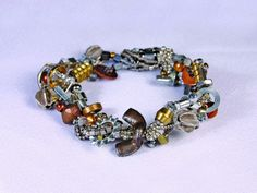 Beaded Bracelet 11 by April Moon Peacock at IndustrialDebris.com