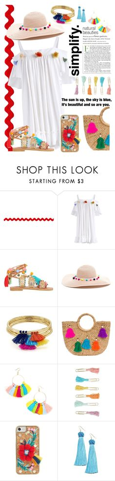 """""""Such a Tassel"""" by maheanani ❤ liked on Polyvore featuring Chicwish, Bonbon, Aqua, JADE TRIBE, Forever 21, Skinnydip and Vanessa Mooney"""