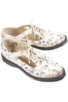 Dr Martens Floral Cut Out Shoes
