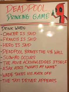 Deadpool Drinking Game