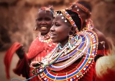 A Smiling Masai Woman in Amboseli, Kenya