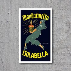 1920s Mandarinetto Isolabella // Vintage Liqueur Advertisement by Marcello Dudovich // High Quality Fine Art Reproduction Giclée Print by WiredWizardWeb on Etsy