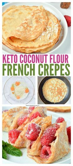 KETO COCONUT FLOUR CREPES are easy low carb breakfast or desserts crepes perfect for sweet or savory filling. KETO COCONUT FLOUR CREPES are easy low carb breakfast or desserts crepes perfect for sweet or savory filling. Low Carb Keto, Low Carb Recipes, Cooking Recipes, Paleo Recipes, Free Recipes, 7 Keto, Simple Recipes, Hamburger Recipes, Low Carb Breakfast Easy