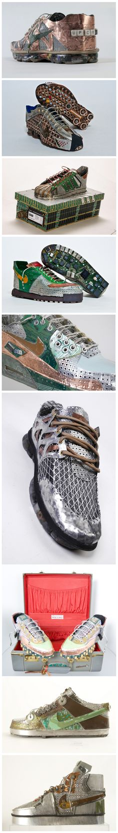 Fabulous Shoe Sculptures Made by Gabriel Dishaw - Upcycled Shoes & Tecnological Stuff