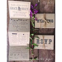 Long invite with tear off rsvp