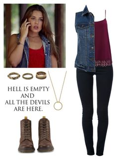 """""""Davina Claire 2x04 - the originals"""" by shadyannon ❤ liked on Polyvore featuring Wanderlust + Co, Forever 21, STELLA McCARTNEY, M&Co, Dr. Martens and plus size clothing Tv Show Outfits, Outfits For Teens, Stylish Outfits, Plus Size Outfits, Fall Outfits, Cute Outfits, School Looks, Teen Fashion, Fashion Outfits"""