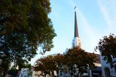 One of several church steeples.    I love Whittier.