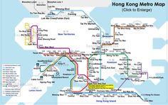Metropolitan of Hong Kong - a description, photos, diagram. Map of Hong Kong subway lines and stations. Metro Subway, Subway Map, Map Metro, Disney Hong Kong, Hong Kong Shopping, Khao Lak, Koh Chang, China Travel, Macau Travel