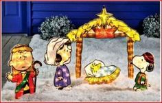 peanuts nativity set outdoor - Google Search
