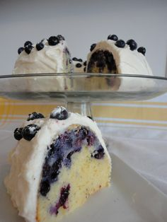 Blueberry Cake with Cream Cheese Frosting