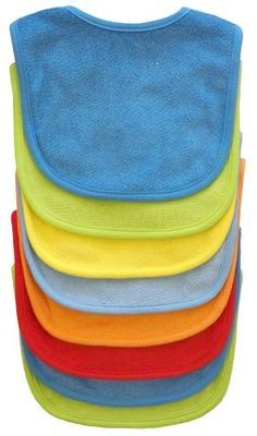 Neat Solutions 8 Pack Multi-Color Solid Knit Terry Feeder Bib, Boy $11.49
