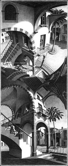 High and Low - M.C. Escher