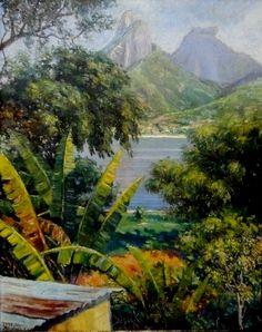 Paisagem da Lagoa Rodrigo de Freitas, 1938 Manuel Eduardo Vidal Couce (Argentina, 1904) óleo sobre madeira, 68 x 53 cm