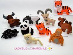Desert animalsASIAN ANIMALS felt magnets   by LADYBUGonCHAMOMILE