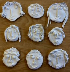 Self-Portraits Crayola Model Magic Clay Second grade students loved creating self-portraits out of clay. All the parts of the. Clay Crafts For Kids, Kids Clay, Clay Projects For Kids, Clay Activity, Model Magic, Ceramic Workshop, School Art Projects, Art Lessons Elementary, Art Classroom