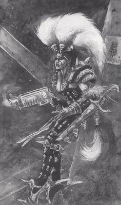 Escher - Necromunda - Warhammer 40K - GW [by John Blanche]