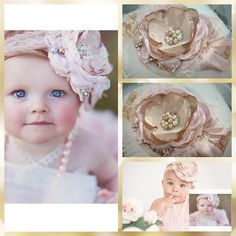 Your place to buy and sell all things handmade Pink Hair Bows, Baby Hair Bows, Baby Flower Headbands, Lace Headbands, Ostrich Feathers, Gold Set, Handmade Flowers, Hair Band, Toddlers