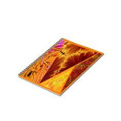 collage orange, Paper Notebook