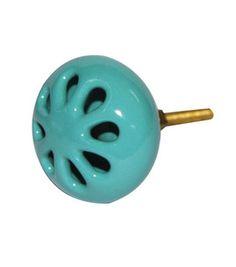 Blue Cut Work Ceramic Knob : Decor Accents: home accents: home decor: Shop | Joann.com
